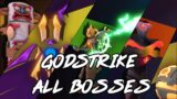 All Boss Fights in Godstrike | Doom and Freedom Endings